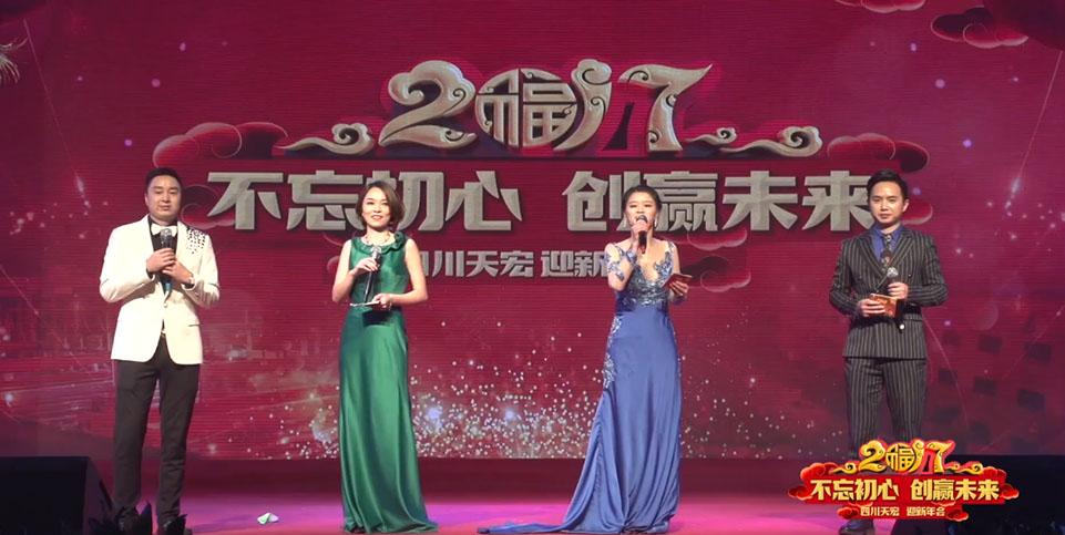 四川天宏不锈钢 年会VCR舞台背景
